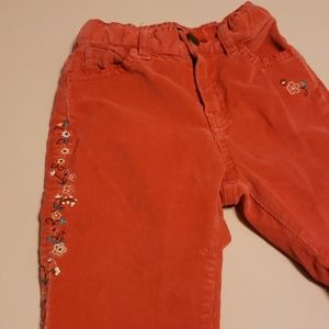 Baby GAP Orange Embellished Corduroy Pants